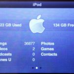 384Gb iPod About Screen